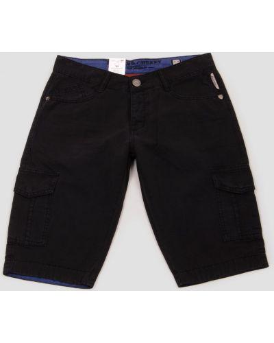 Шорты с карманами - черные Benson & Cherry