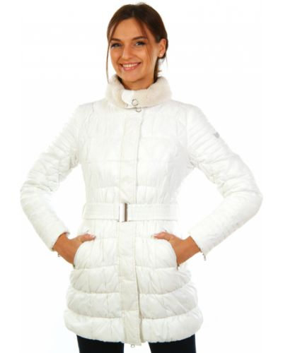 Пальто белое осеннее Gas