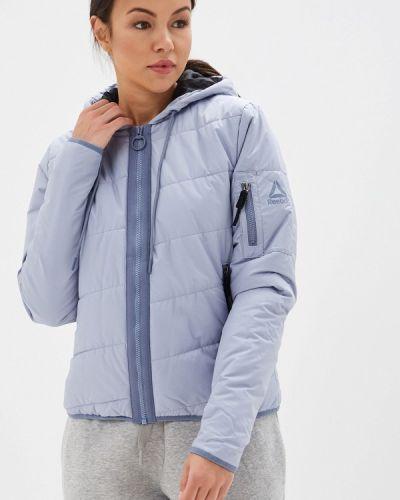 Утепленная куртка осенняя голубая Reebok