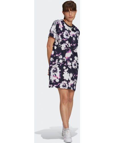 Платье в цветочный принт Adidas