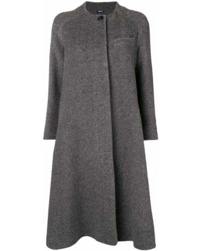 Пальто серое пальто Jil Sander Navy
