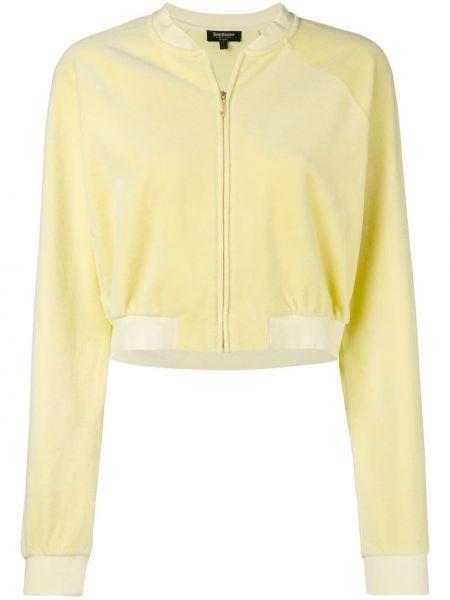 Велюровая желтая спортивная куртка Juicy Couture