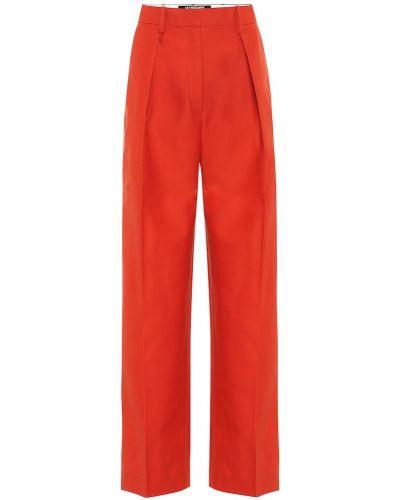 Pomarańczowy bawełna szerokie spodnie bezpłatne cięcie z wiskozy Jacquemus