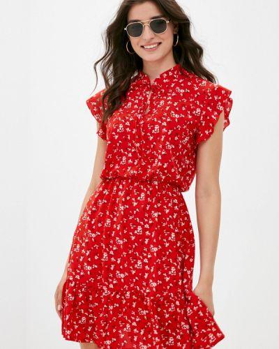 Красное прямое платье Froggi