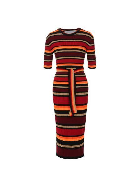 Платье с поясом из вискозы мягкое Victoria, Victoria Beckham