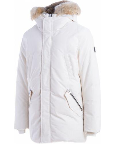 Biały płaszcz Mackage