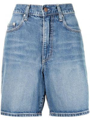 Джинсовые шорты с завышенной талией - синие Nobody Denim