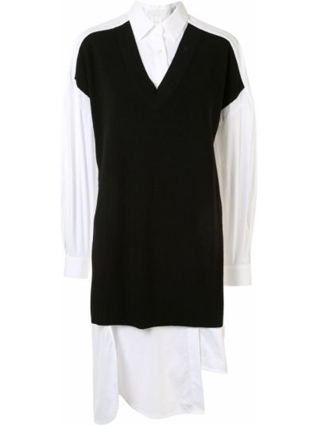 Bawełna klasyczny czarny klasyczna koszula z kołnierzem Enfold