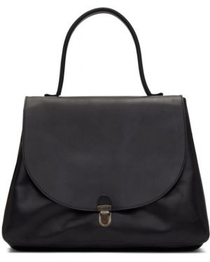 Черная большая сумка с карманами оверсайз с тиснением Cherevichkiotvichki
