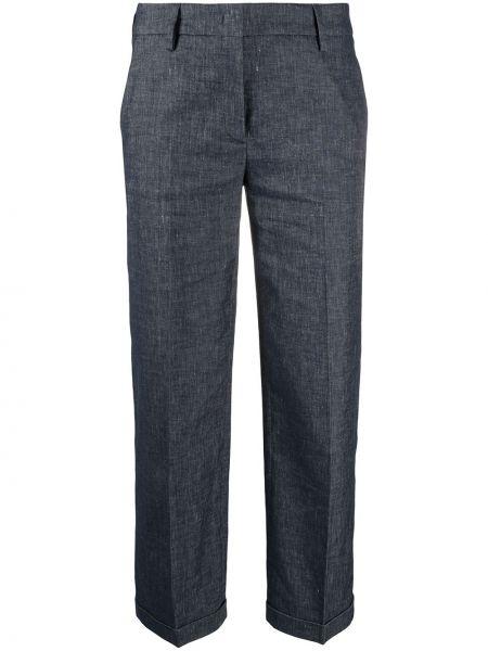 Прямые с завышенной талией льняные брюки Piazza Sempione