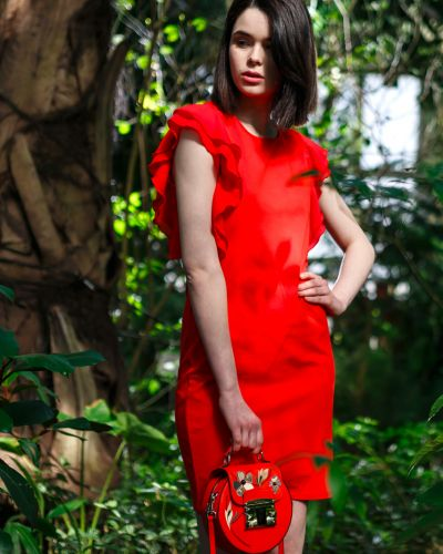 Коралловое платье Liu Jo