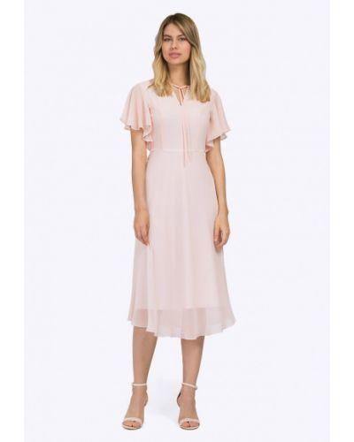 Летнее платье розовое мини Emka