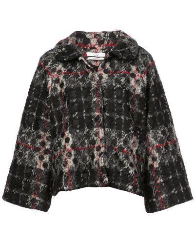 Черное пальто классическое с капюшоном с воротником Co