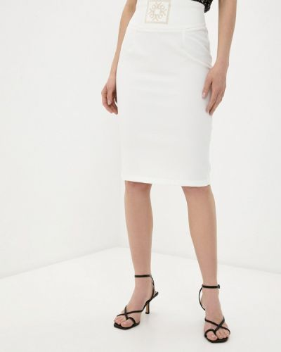 Белая юбка узкого кроя Rinascimento
