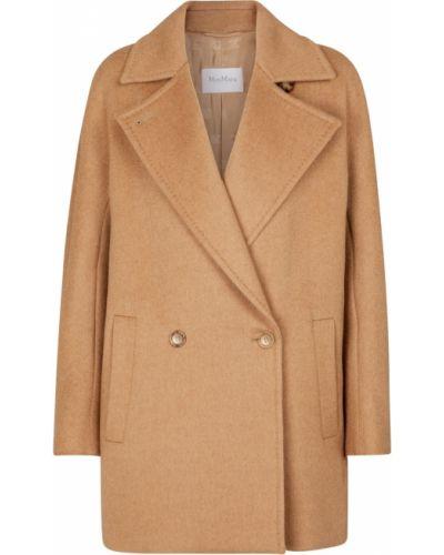 Коричневая куртка из верблюжьей шерсти Max Mara