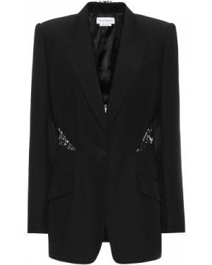 Пиджак черный итальянский Alexander Mcqueen