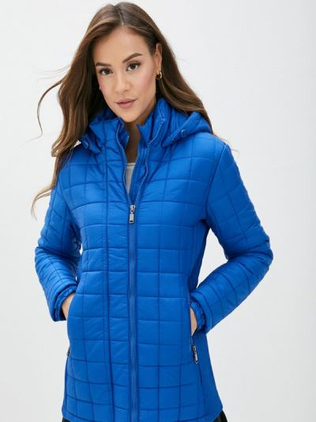 Теплая синяя утепленная куртка Koton