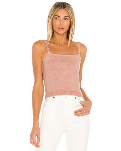 Акриловый розовый топ винтажный Line & Dot