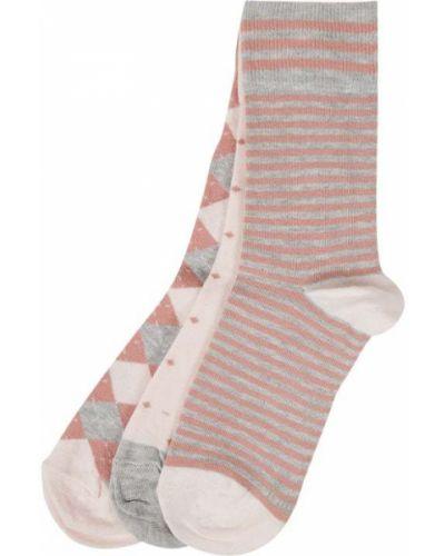 Prążkowane różowe skarpety bawełniane S.oliver Red Label