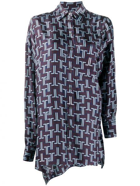 Классическая блузка с длинным рукавом с воротником с жемчугом на пуговицах Lanvin