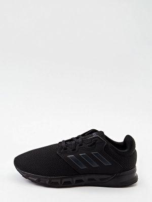 Черные кожаные низкие кроссовки Adidas