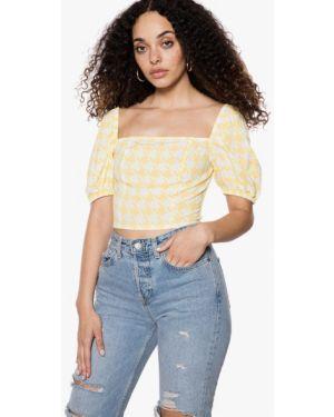 Блузка с коротким рукавом желтый весенний Ivyrevel