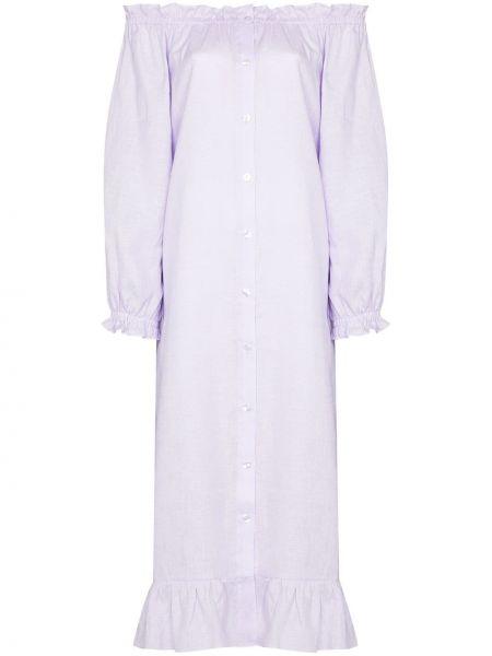 Fioletowa sukienka midi Sleeper