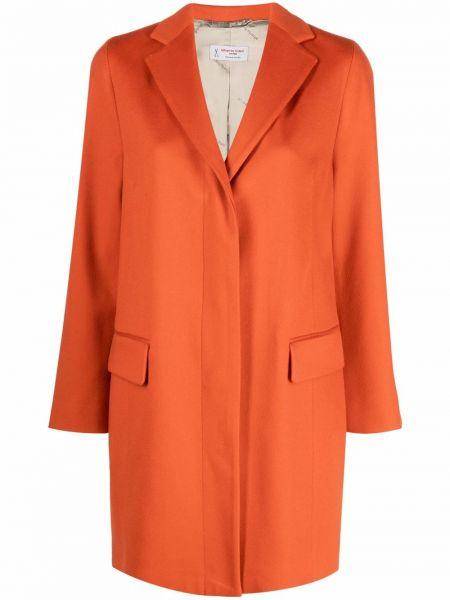 Шерстяное пальто - оранжевое Alberto Biani