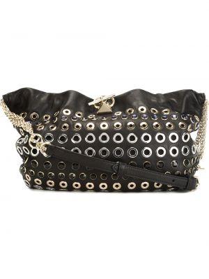 Кожаная сумка через плечо - черная Sonia Rykiel