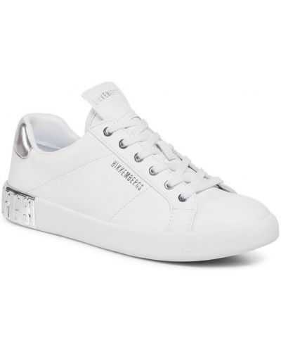 Białe buty sportowe skorzane Bikkembergs