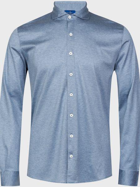 Хлопковая рубашка - серая Barba Napoli
