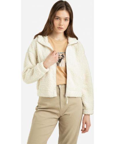 Джинсовая куртка с капюшоном - белая Gloria Jeans