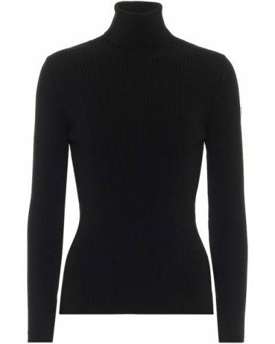 Czarny sweter z wiskozy Fusalp