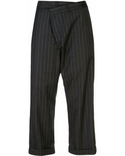 Укороченные брюки с завышенной талией с лампасами R13