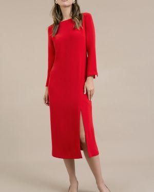 Платье с поясом с V-образным вырезом на молнии Emka