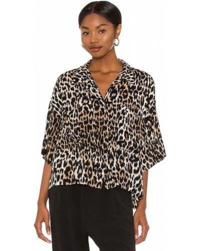 Текстильная базовая коричневая рубашка One Teaspoon
