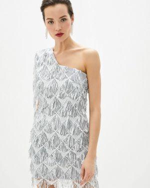 Вечернее платье осеннее серебряный Anastasya Barsukova