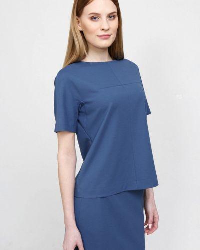 Блузка с коротким рукавом синяя весенний Bizzarro