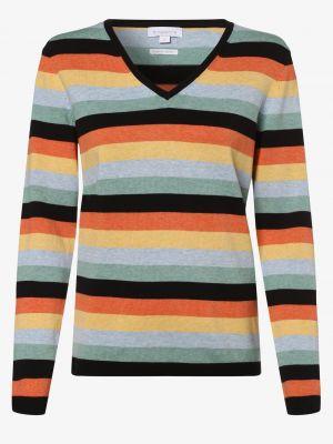 Niebieski sweter w paski bawełniany Brookshire