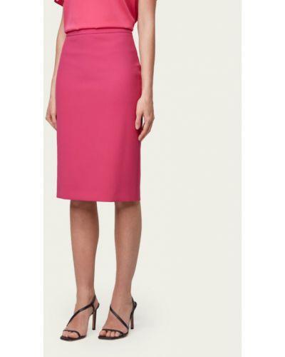Różowa spódnica ołówkowa Boss