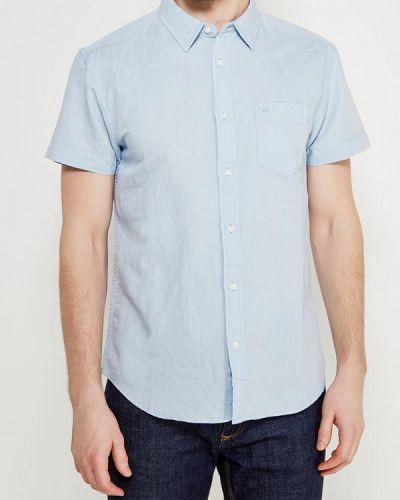Голубая рубашка с короткими рукавами Wrangler