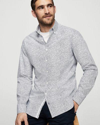 Белая рубашка в клетку Mango Man