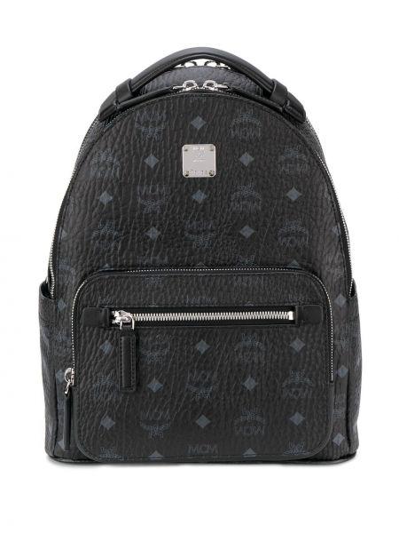 Рюкзак на молнии - черный Mcm