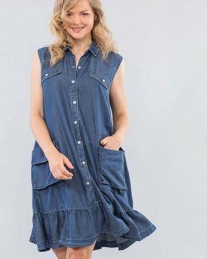 Синее джинсовое платье Maxa