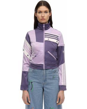 Фиолетовый топ с воротником с карманами с манжетами Adidas Originals