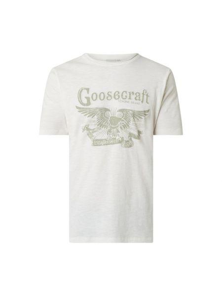 Biały t-shirt bawełniany Goosecraft