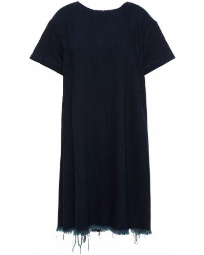 Sukienka mini bawełniana - niebieska Simon Miller