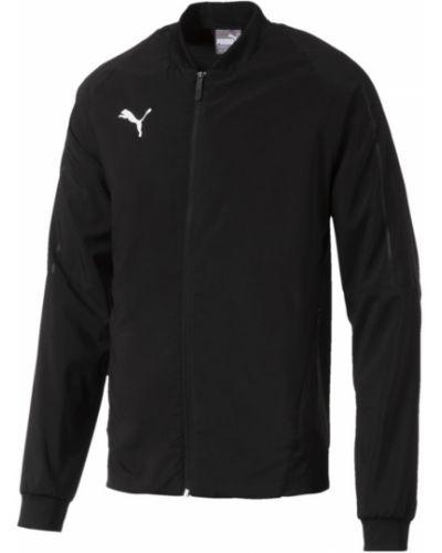 С рукавами черная кожаная куртка Puma