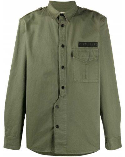 Рубашка с воротником с нашивками с манжетами на пуговицах Zadig&voltaire
