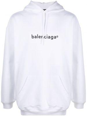 Z rękawami bawełna czarny bluza z kapturem z kapturem Balenciaga